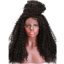 COLODO 180% Density Synthetic Lace Front Wigs For Black Women High Temperature Kinky Curly Afro American Artificial Hair Wigs