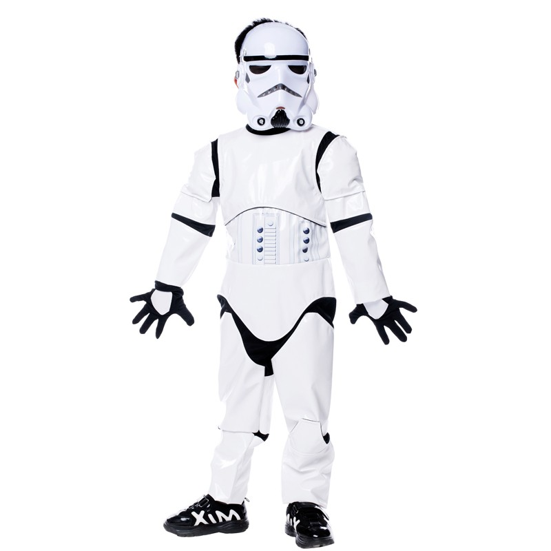 Фото 2017 New Children Deluxe Star Wars The Force Awakens Storm Troopers Halloween Costume Kids Cosplay halloween costume for kids