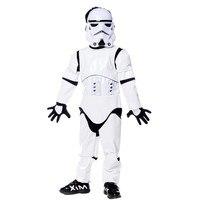 2017 New Children Deluxe Star Wars The Force Awakens Storm Troopers Halloween Costume Kids Cosplay Halloween