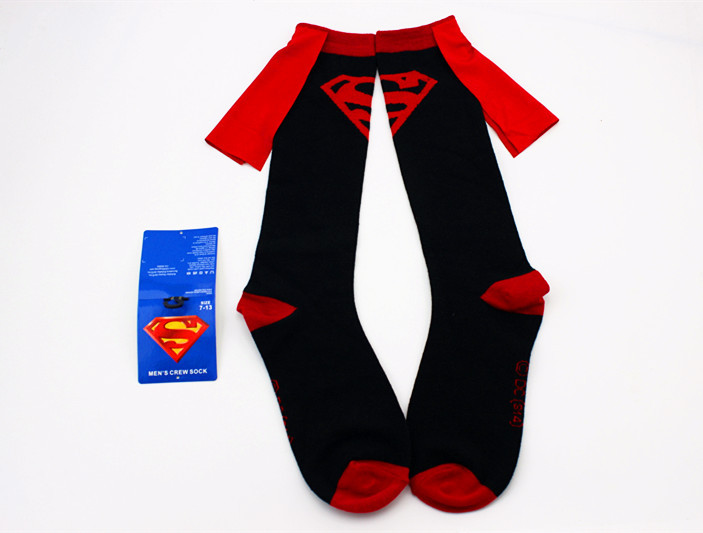 0775462ca78 New Fashion Dc Superman Batman Wonder Superhero Blue Star Knee High Crew  Socks With Cape For Women Men Couple Cotton Stockings-in Scary Costumes  from ...