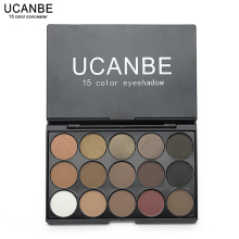 UCANBE Brand New Fashion 15 Earth Color Matte Pigment Glitter Eyeshadow Palette Cosmetic Makeup Set Nude Eye Shadow palettes