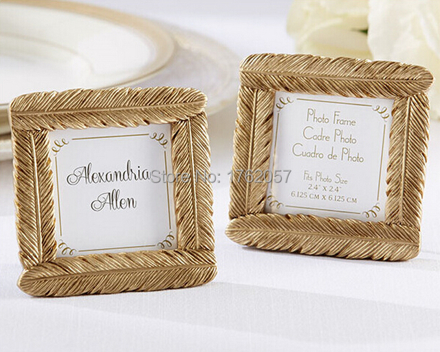 Gold Feather Frame Place Card Indian Wedding Favors 100pcs Lot