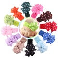 New 13 Colors Soft New Born Baby Headband Polka Dot Ribbon Baby Elastic Hair Band Children Hair Accessories