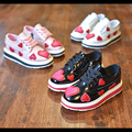 Spring slip-on love heart shoes for children fashion leather shoe toddler girl brand casual sneaker platform kid pink size 26-36