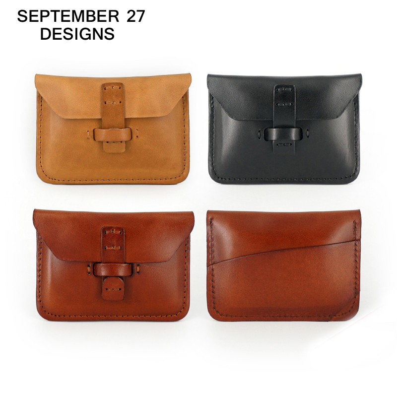 Business Card Holders Brand Designer Genuine Leather Vintage id & name card holder Retro Mini Wallets Coin Purses Hasp Pocket