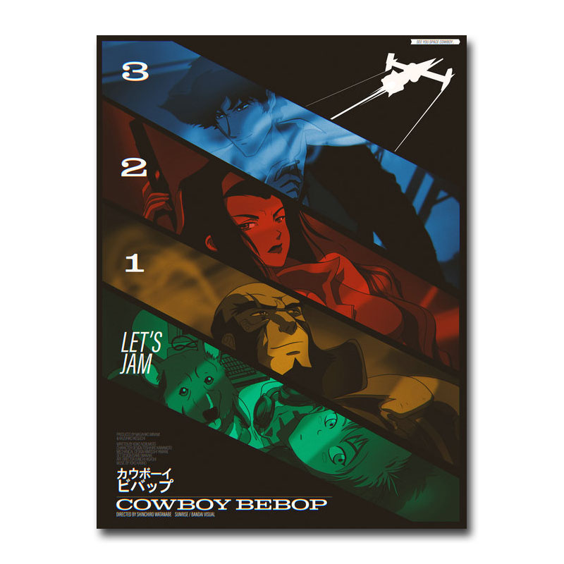 Cowboy Bebop Japan Anime Art Silk Poster 13x18 24x32 inch