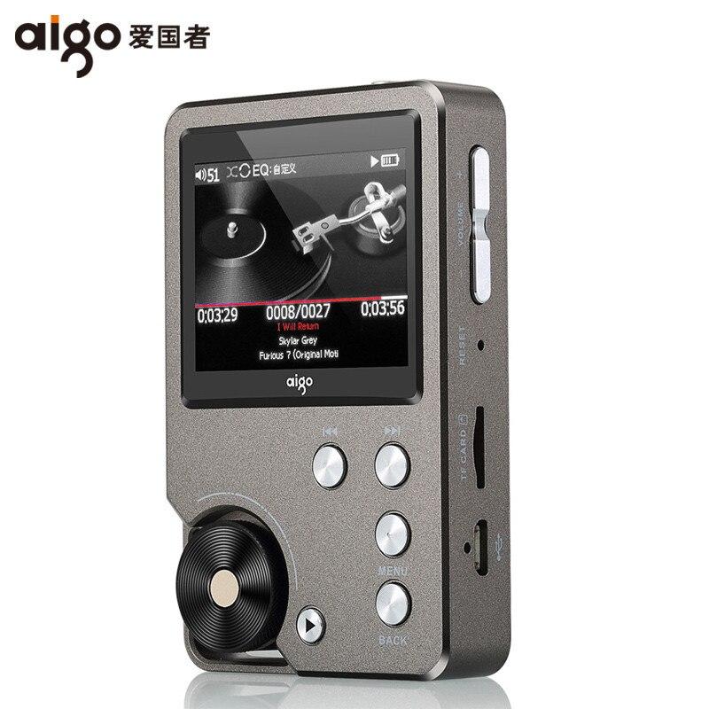 AIGO MP3-105 Player Loseless HIFI Mini MP3 With TFT Screen Hi-res Flac High Quality DSD 64 DAC WM8965 Sport EQ Adjustable цена
