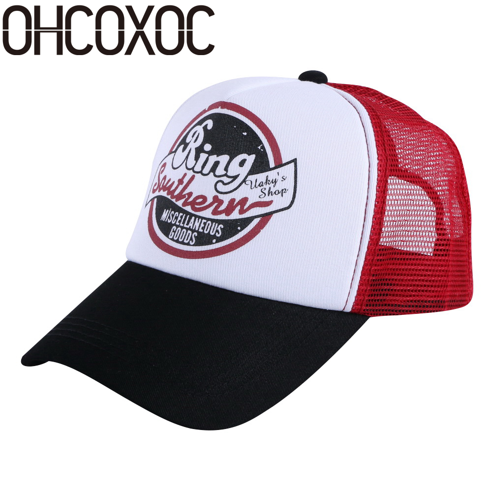 OHCOXOC women men fashion baseball cap summer hats 100% cotton material good quality print design casual unisex sports caps fashion sports baseball cap men