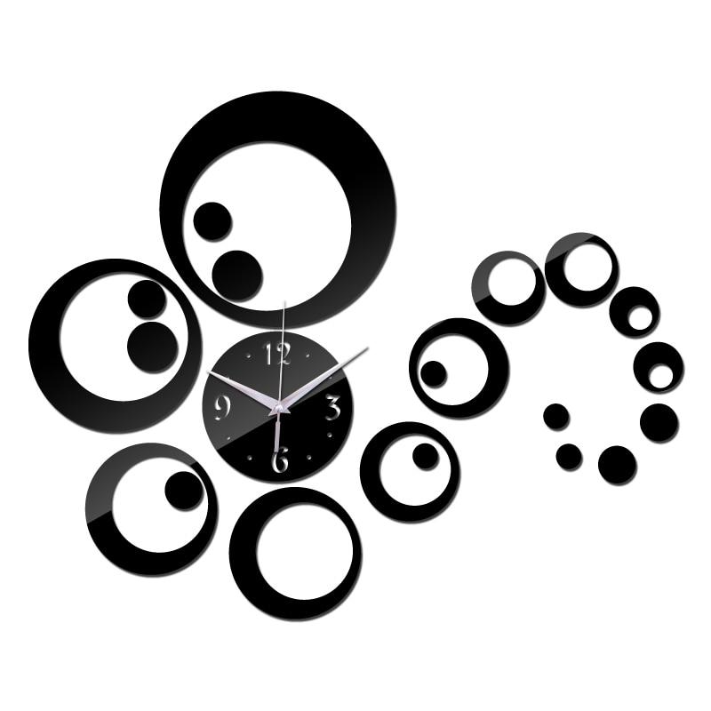 Clock Wall Clocks Watch Horloge Modern Home Decoration Diy Acrylic Mirror Sticker Living Room Needle Free Quartz Shipping