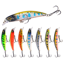 7CM/4G Artificial Minnow Slow Sinking Hard Bait Sea Fishing Lure Freshwater Squid Bass Wobblers Lure Crankbait Pike Hooks tackle 1pc 11 7cm 13g crank sinking vibration fishing lure bass vib hard bait freshwater fishing pike bait fishing tackle diving 1 2 4m