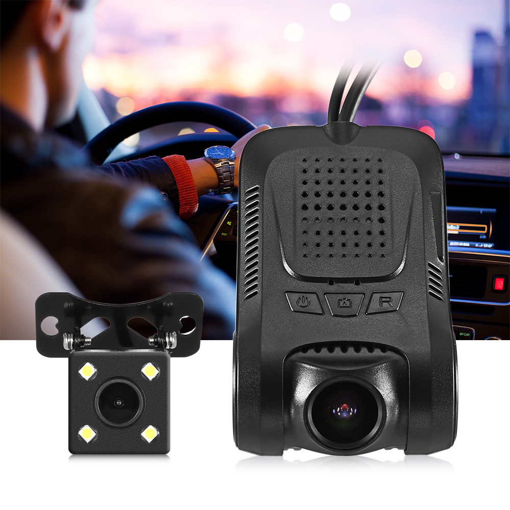 Hidden Car DVR Camera Driving Video Recorder 170 Degree 1080P FHD H.264 Mini Car Camera DVR Recorder With Rear View Camera WiFi intelligent quad channel car camera video recorder dvr for rear front side view camera four split screen with remote controller