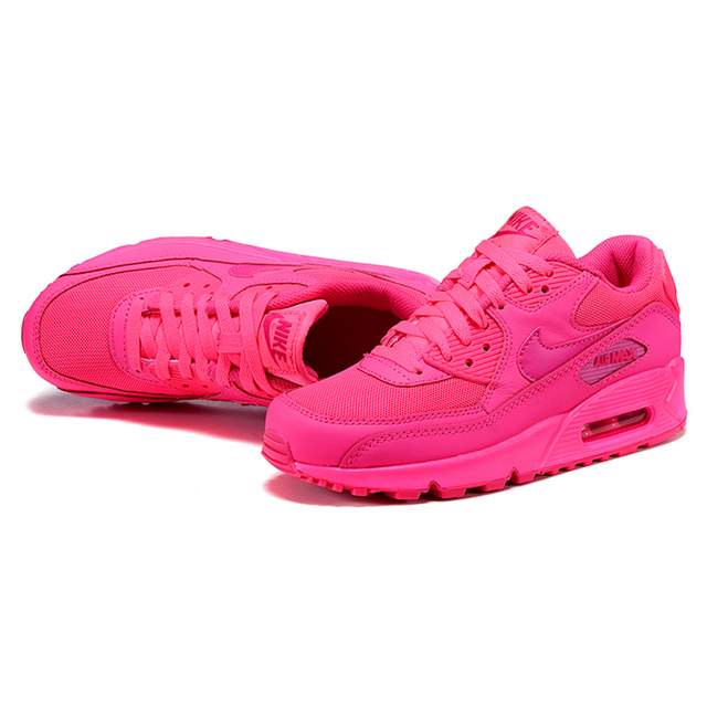 best website 5b551 a502f ... Nike Air Max 90 Women s Breathable Running Shoes Original Women Sport  Pink Sneakers Shoes 345017- ...