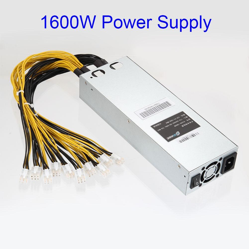 New 1600W APW3 Mining Machine Power Supply for Antminer Miner S9 S7 L3+ D3New 1600W APW3 Mining Machine Power Supply for Antminer Miner S9 S7 L3+ D3