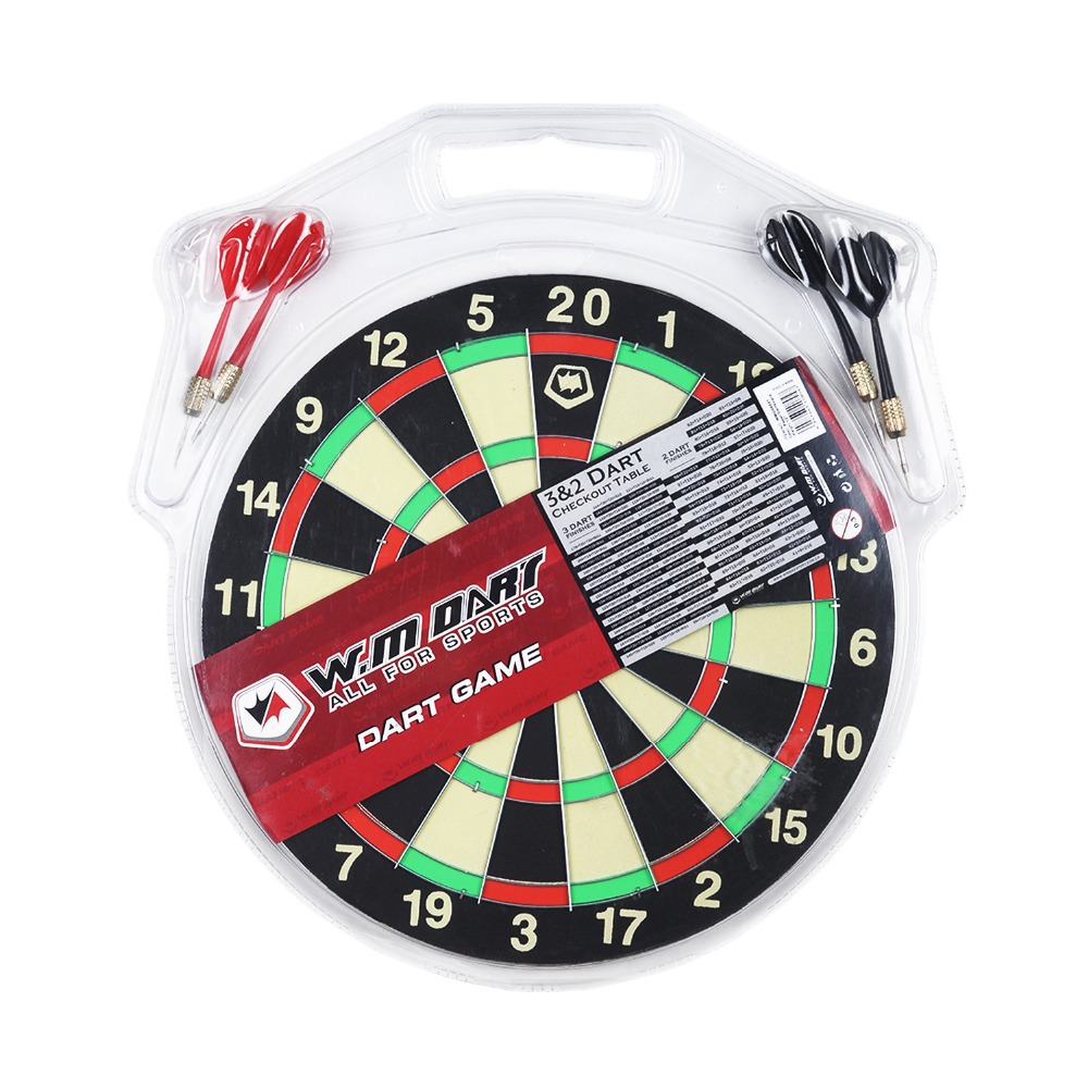 Winmax New Indoor 12 inch Sport Double Target Board Paper Dartboard Board Bouble Thickening with 4*8g Steel Tip Dart