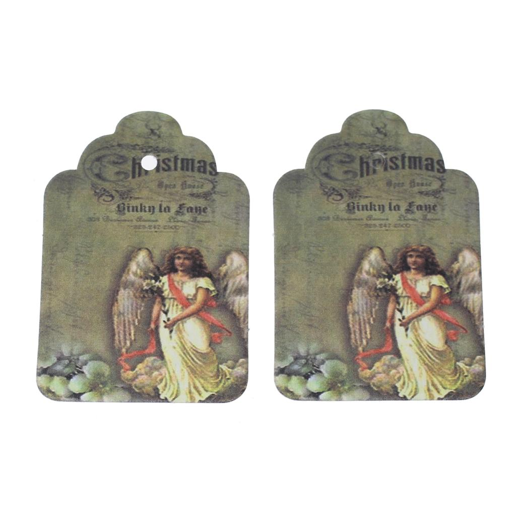"DoreenBeads Paper Label Tags Multicolor Angel Flower Pattern 6cm(2 3/<font><b>8</b></font>"")<font><b>x</b></font> 4cm(1 <font><b>5</b></font>/<font><b>8</b></font>""),50 Sheets 2015 new"