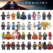 Legoings Бэтмен Мстители Marvel Super Heroes Legoing Бесконечная война киборг танос Каратель Супергерл Atom строительные блоки игрушки(China)