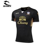 2017 Summer Men Short Sleeve Soccer Uniforms T Shirt Quick Dry Fitness Slim Fit T Shirt