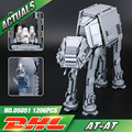 Lepin 05051 Serie Star Fuerza Despertar El AT-AT Transpotation Robot Blindado 75054 Bloques de Construcción Ladrillos de Juguetes Educativos