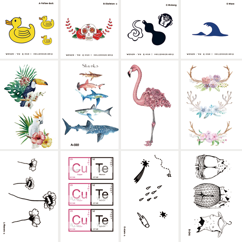 30 Sheets/lot Special Original Waterproof Temporary Tattoo Stickers for Adults Kids Body Art Fake Tatoo for Women Tattoos