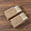 1000 Stuks Bamboe Wattenstaafjes Dubbele Hoofd Volwassenen Make Wattenstaafje Microbrush Wood Sticks Neus Oren Schoonmaken Gezondheidszorg Gereedschap