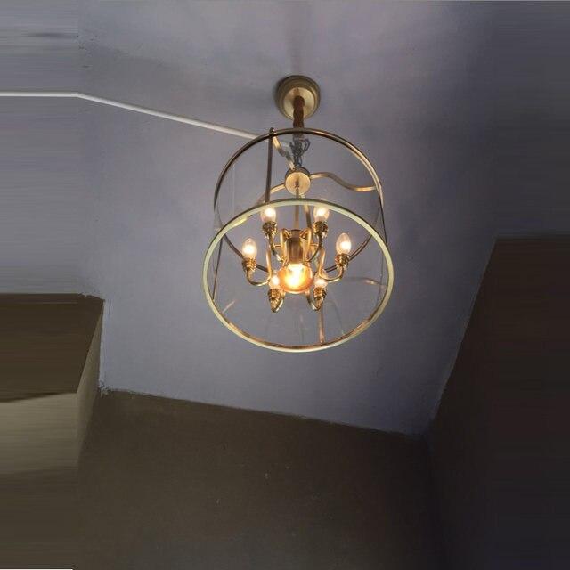 Online Shop Kleedkamer Vintage Goud Messing Lamp Luz Koperen hanger ...