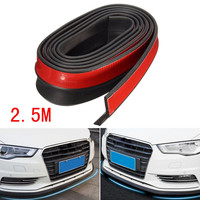 1PC 2 5M Car Styling Universal Carbon Fiber Front Bumper Lip Splitter Chin Spoiler Body Trim