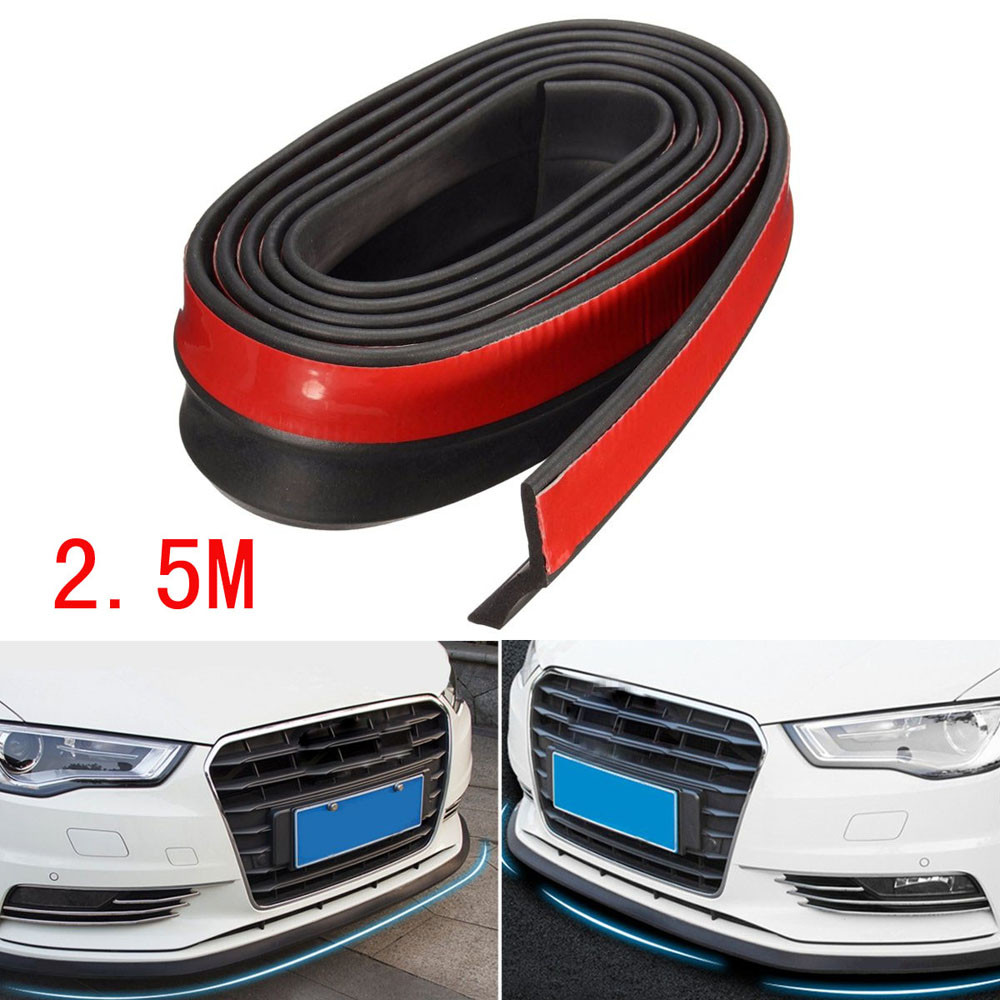 1PC 2 5M Car Styling Universal Carbon Fiber Front Bumper Lip Splitter Chin Spoiler Body Trim
