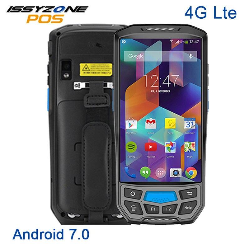 ISSYZONEPOS 1D 2D PDA QR Code À Barres Scanner De Poche Terminal Tablet bluetooth sans fil Wifi Android 7.0 Lecteur de Code Barre Industrielle