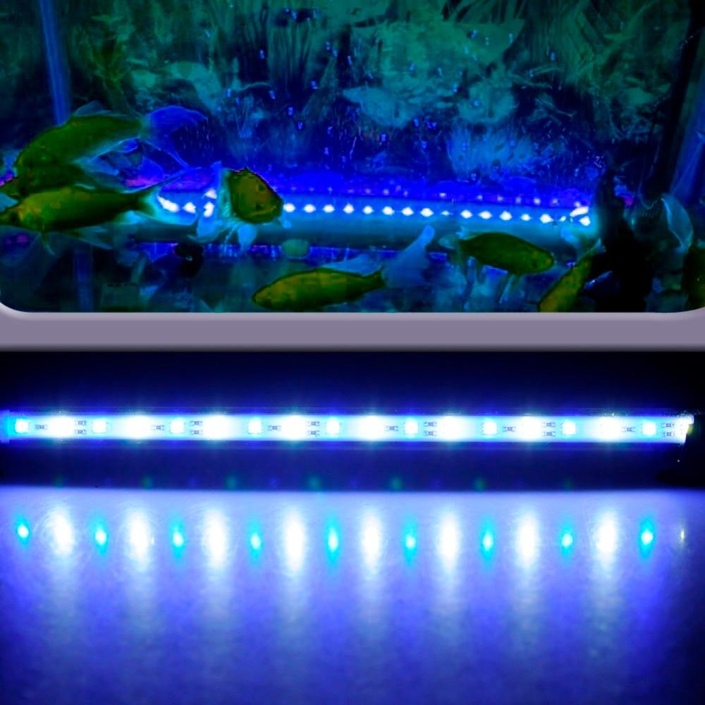 Freshwater aquarium fish uk - Aquarium Fish Tank 37cm 18 Led 4w 5050 Smd Blue White Light Bar Underwater Submersible Waterproof