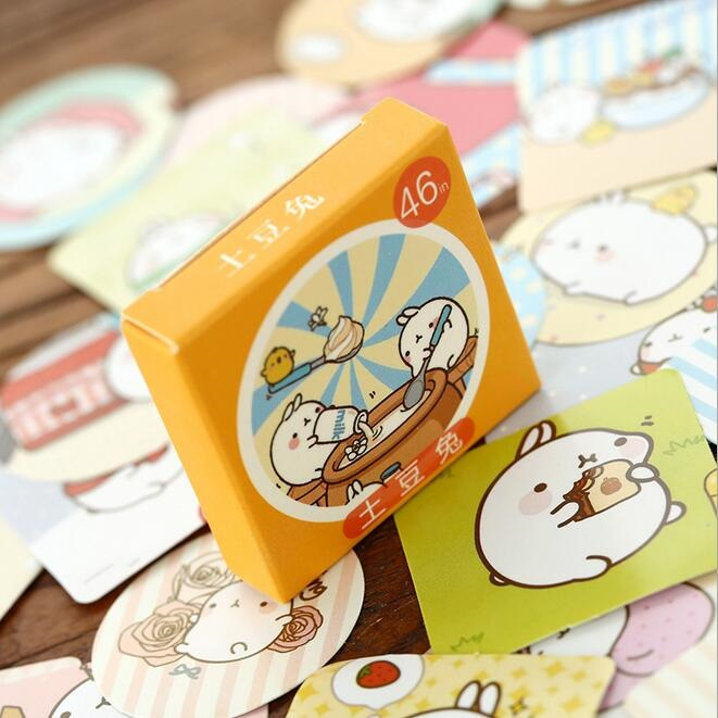 цена на 46pcs/pack  Japan Kawaii Cartoon Potato Rabbit  Gift seal sticker set hot sell decoration packing stickers supplies