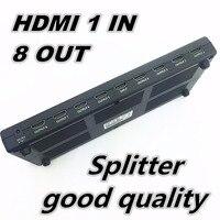 1080P 3D Mini 8 Port HDMI Splitter Switcher 1x8 1 In 8 Out HDMI Distributor Splitter