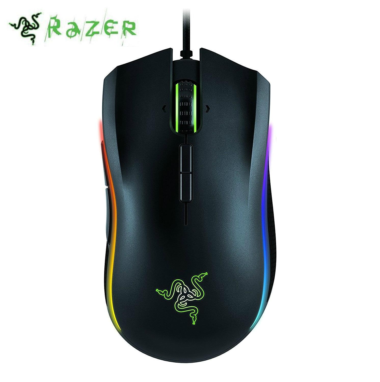 Razer Mamba Tournoi Édition Gaming Souris 16000 DPI qualité professionnelle Chroma Ergonomique joueur pc USB Filaire Pour CSGO, Overwatch