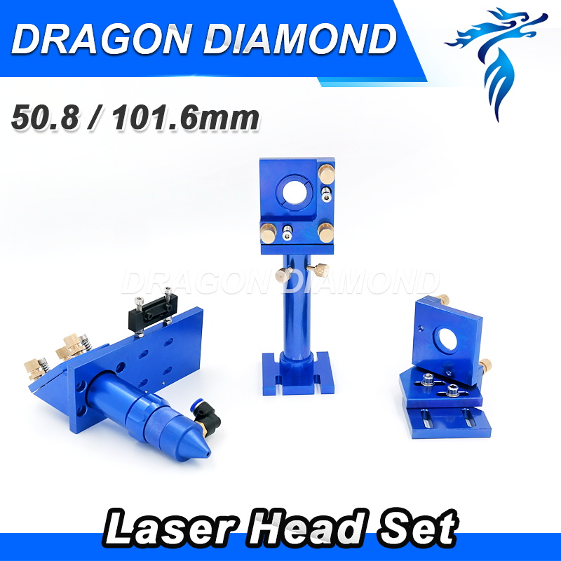 цена на Laser Head Focus Focal Lens 20mm FL 50.8mm 100mm for Mirror 25mm Mounts Set for CO2 Laser Engraving Machine