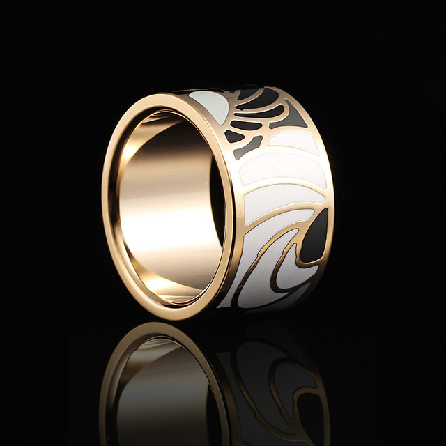 Free Shipping Hot Sale Fashion Enamel Jewelry Stainless Steel Rings For Women Co