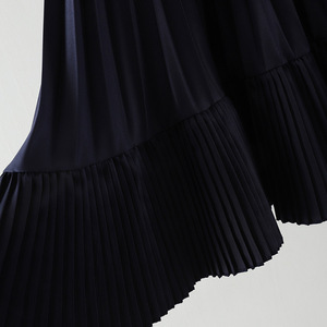 Image 4 - 2020 jesień nowy nabytek koreańska nieregularna spódnica słodki plisowany szyfon spódnica Faldas Largas Elegantes czarne spódnice darmowa wysyłka