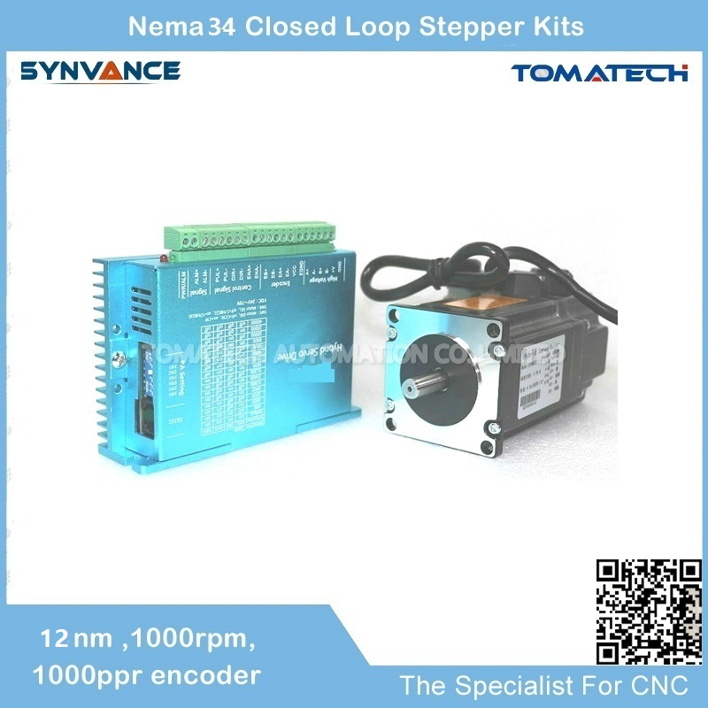 No1 quality Cost effective 2 Phase 12nm Hybrid Closed Loop Stepper Motor and Driver Can be