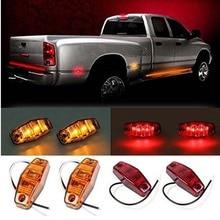 цена на 10 Pcs Car LED Clearance Lamp Side Marker Lights for 12V 24V Truck Trailer Caravan RV Pickup Red White Yellow