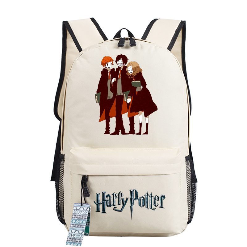 New Magical Harry Potter Hermione Printing Backpack Mochila Feminina Canvas School Bags Cartoon Backpacks for Teenage Girls