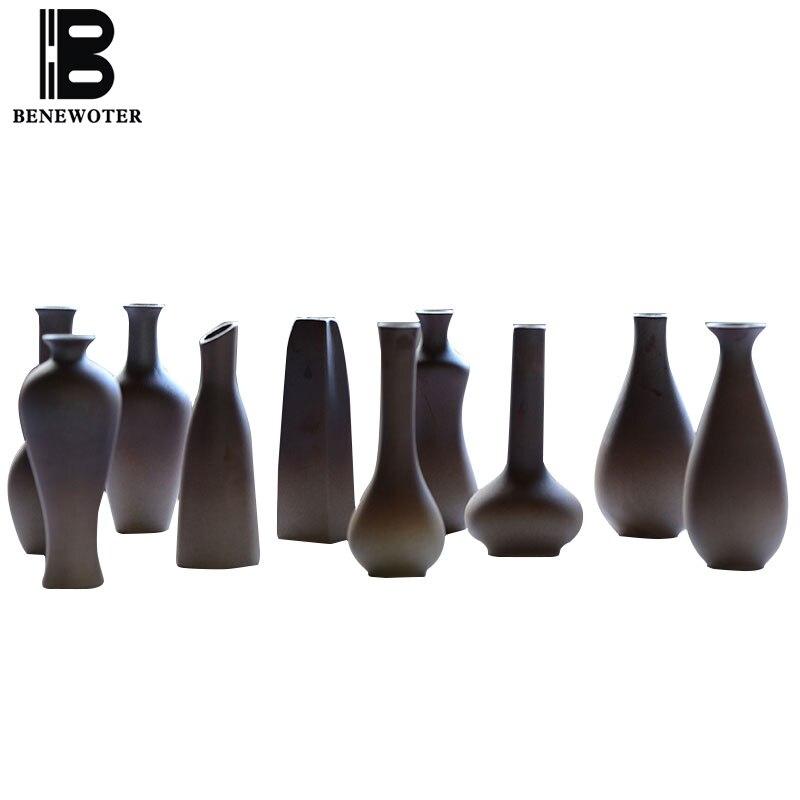 Японском стиле творческий Керамика грубая керамика цветок Вазы офисная отделка мини ваза для дома Luck ремесел отправлен друзей