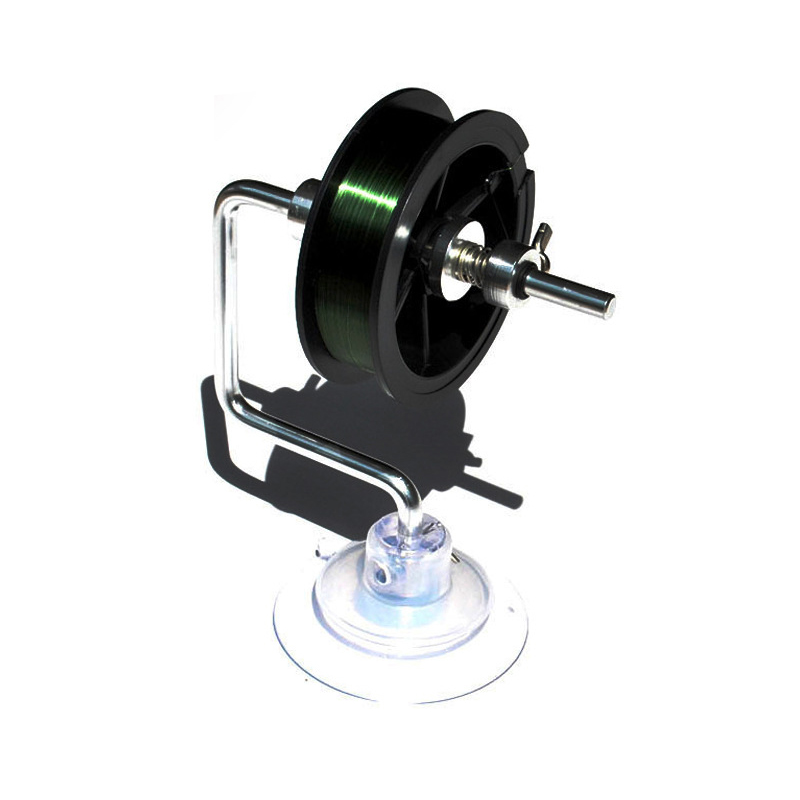 Fishing Line Loading Tool Dispenser Rewinder with Vacuum Sticker Fishing Reel Accessory