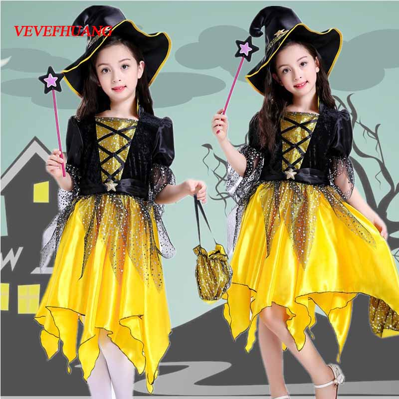 VEVEFHUANG Europe and United States cosplay witch anime dance performance clothing Children's Halloween Costume