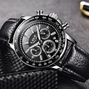 Image 5 - LIGE Luxury Brand Waterproof Military Sport Watches Men Silver Steel Calendar Quartz Analog Watch Clock Relogios Masculinos XFCS
