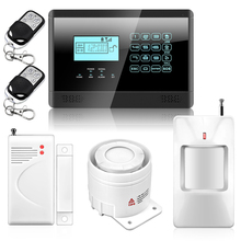 Alarm Mainframe Kits Wireless GSM SMS Text Home Security Alarm System, 4 Bands, Door/Window Sensor for Home Office Safety