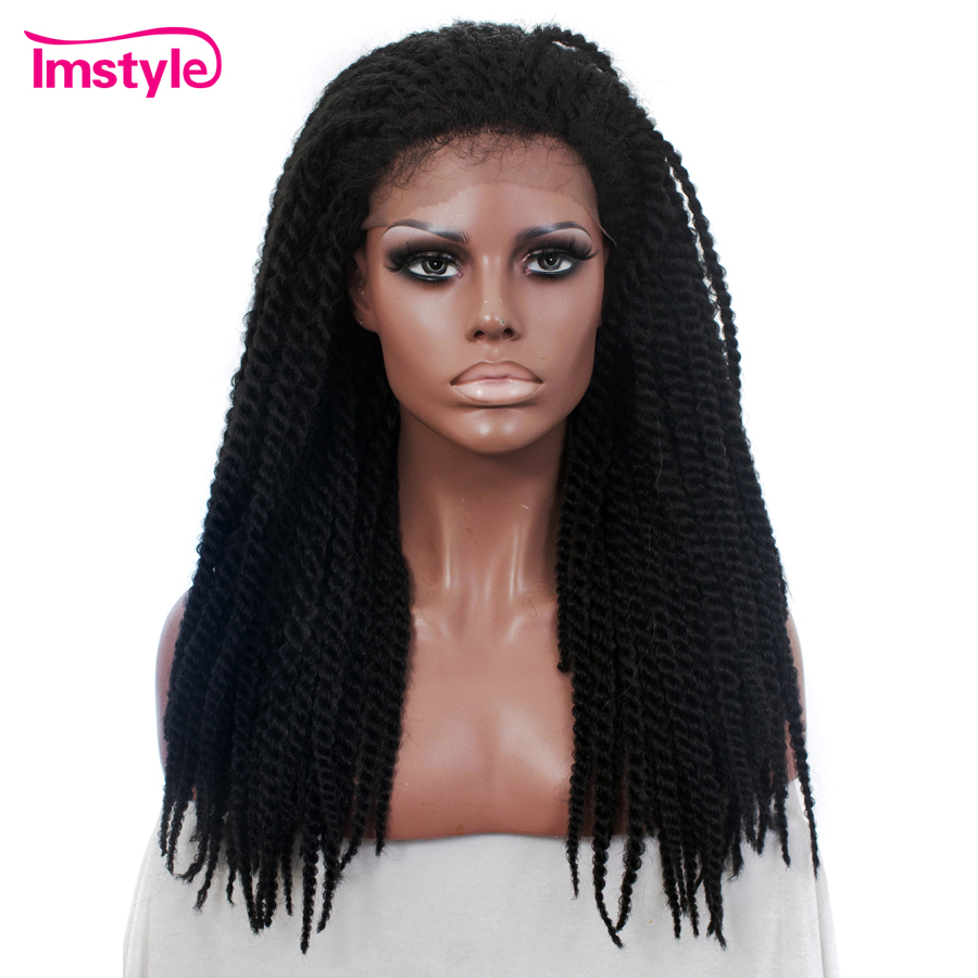 Imstyle Braid Synthetic Lace Front Black Wigs 22 inch Lace Front Wig For Women Braided Wigs