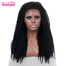 Imstyle Braid Synthetic Lace Front Black Wigs 22 inch Lace Front Wig For Women Braided Wigs Heat Resistant Fiber