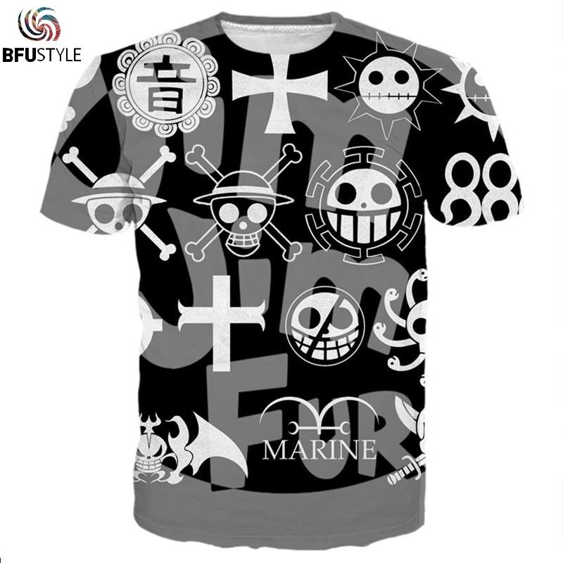 One Piece Jolly Roger T Shirt T-shirts Men Women 2018 New Fashion Hip Hop Streetwear Summer Tops Tees Casual 3D Tshirt