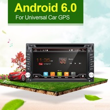2 Din Prado Android 6.0 Quad Core 6.2 inch Car DVD PLAYER GPS Navigation For Universal car radio with free camera map