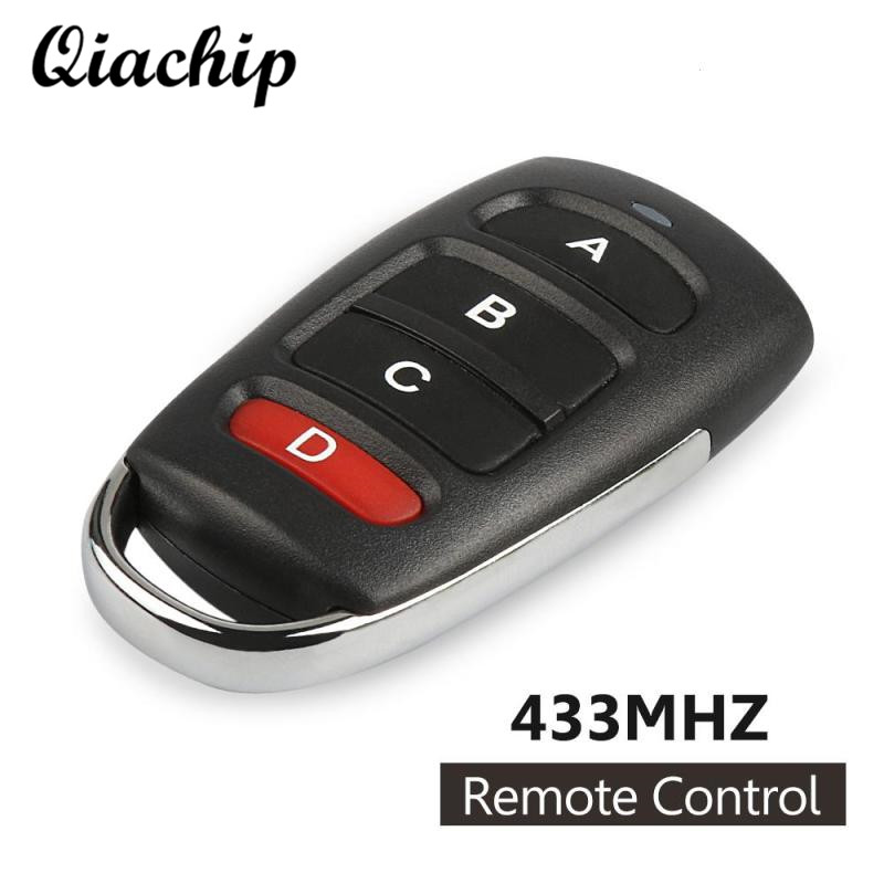QIACHIP 433mhz DC 12V 4 Button Copy Cloning Electric Garage Door Security Alarm Controller Key Fob Car Key Remote Control Switch hi q remote control garage door key replaceable cloning gate new duplicator key 433mhz