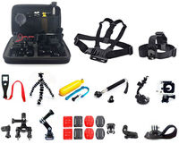 25in1 Head Chest Mount Floating Monopod Accessories For GoPro Hero 3 4 5 H9 XIAOMI YI SJ4000 Camera