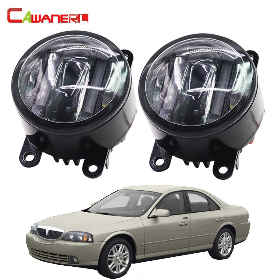 Cawanerl for lincoln navigator ls car styling led front fog light daytime running lamp drl 1